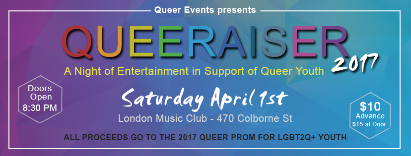 Queer Events presents Queeraiser 2017 Banner