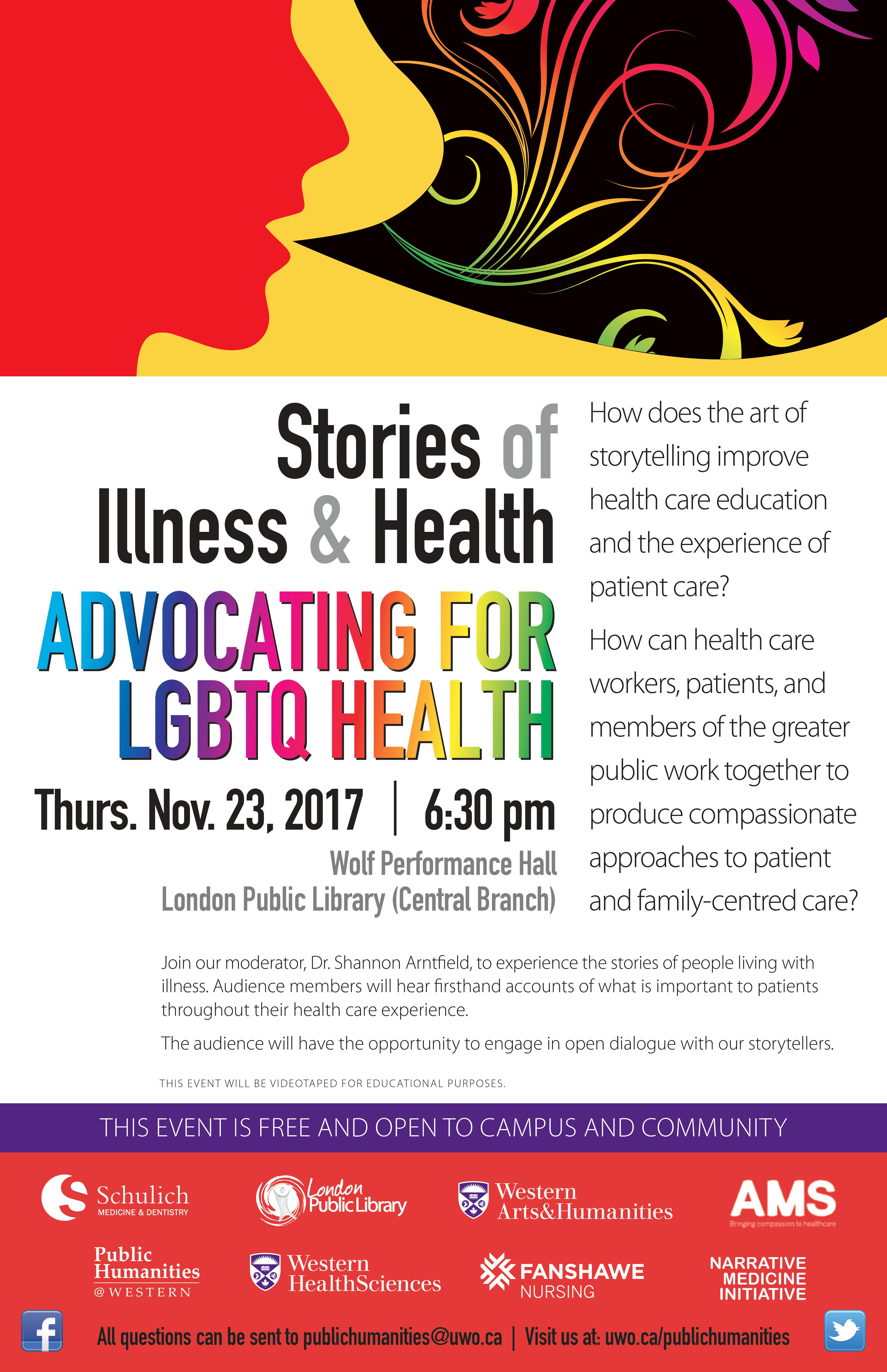 QueerEvents.ca - LGBT Stories of Health - Event Poster