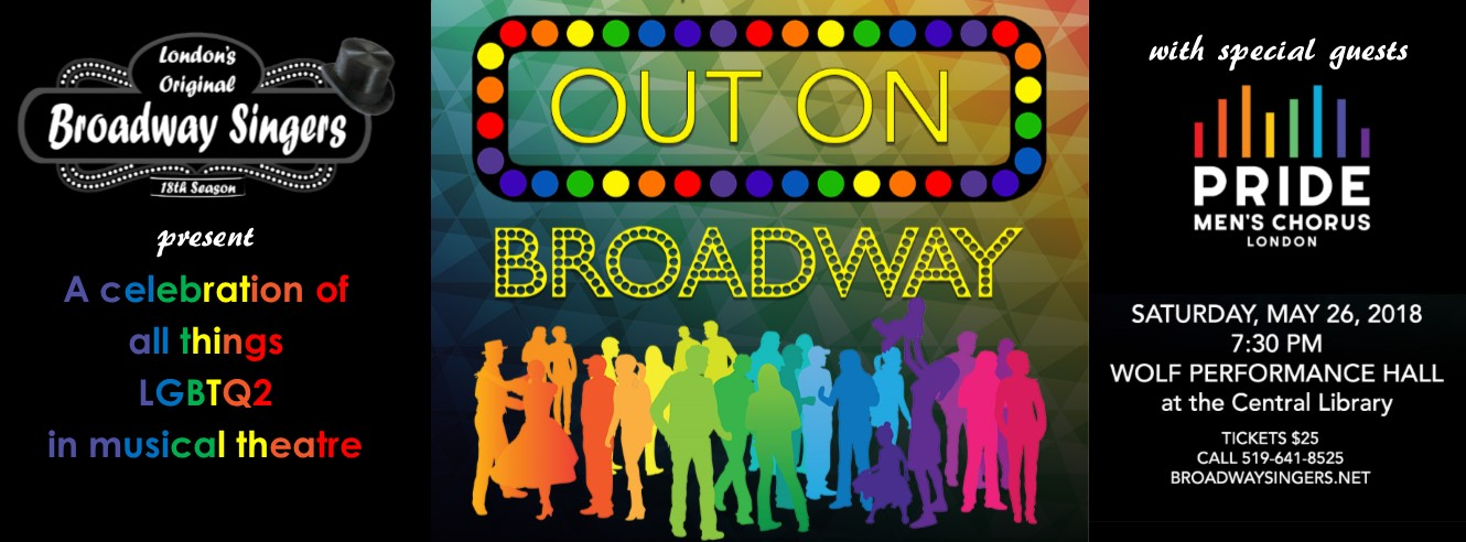 QueerEvents.ca - Event Listing - Out On Broadway Concert banner