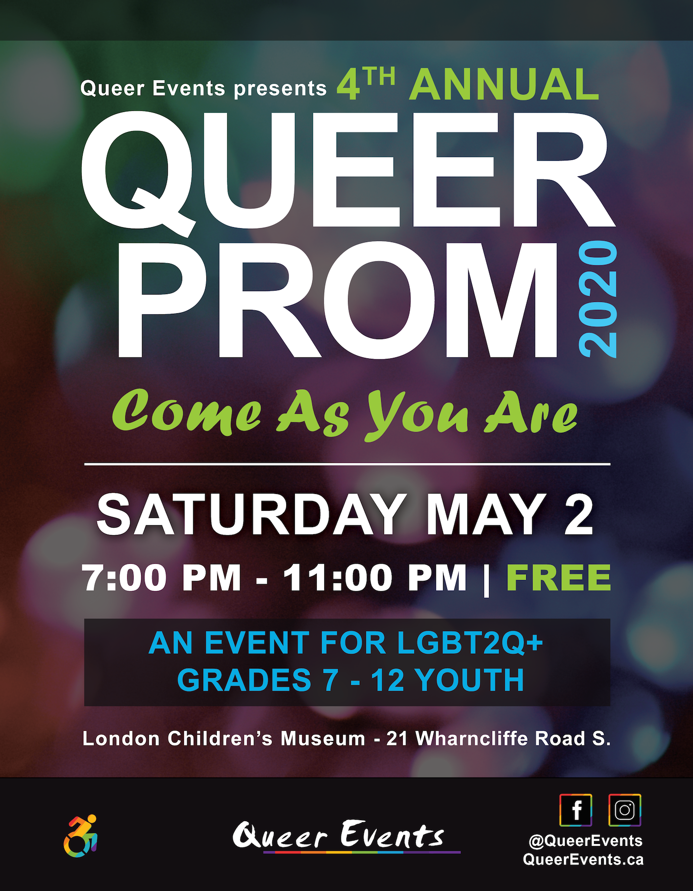 Queer Prom for Youth 2020 Poster