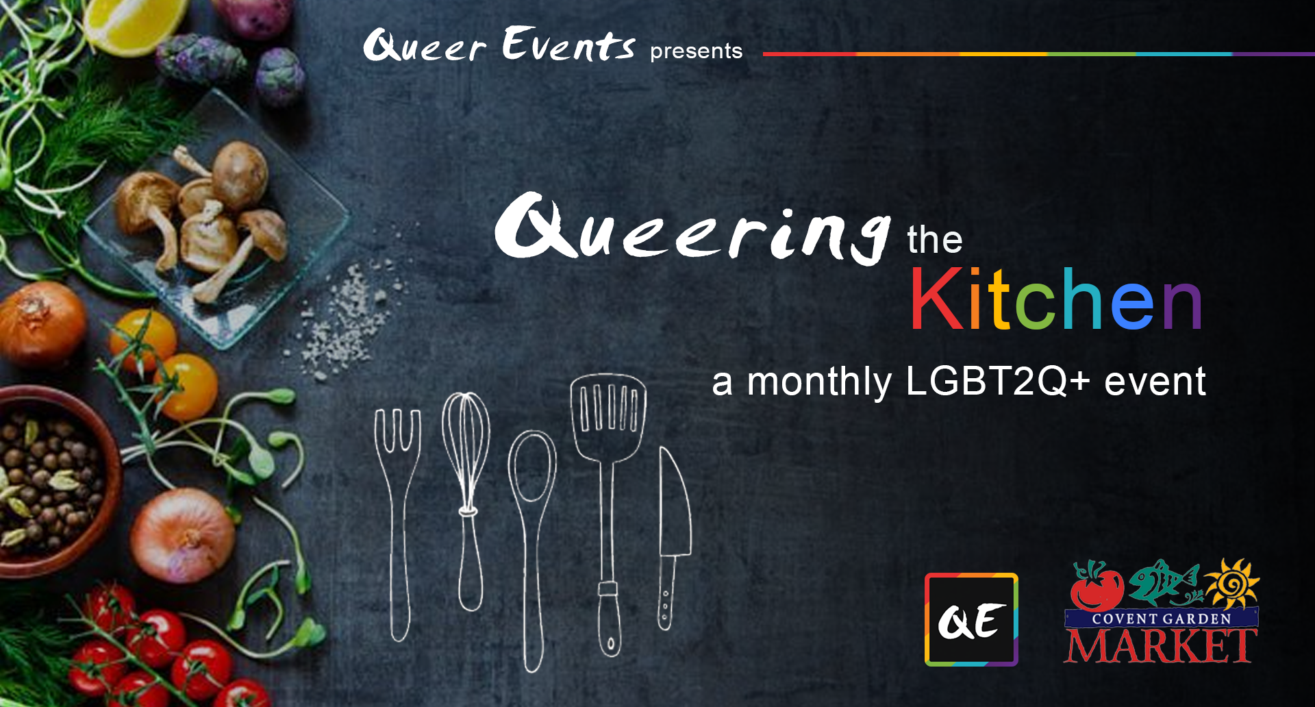 QueerEvents.ca - London Event Listing - Queering the Kitchen presetned by Queer Events banner