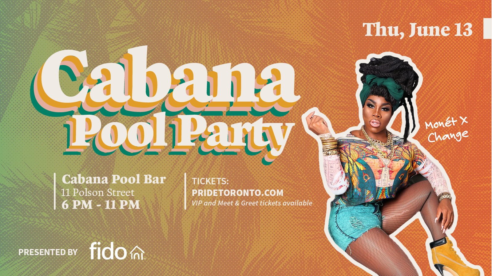 QueerEvents.ca - Toronto event listing - Cabana Pool Party Event banner