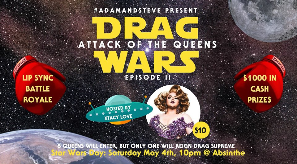 QueerEvents.ca - Hamilton event listing - drag wars - attach of the queens - event banner
