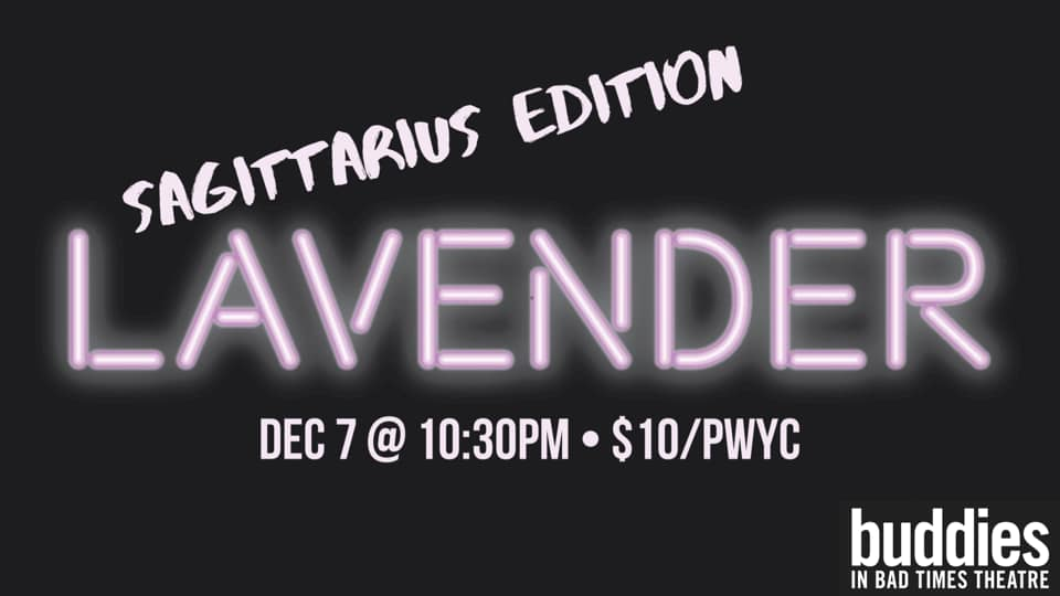 QueerEvents.ca - Toronto event listing - Lavender - Dance Party - December Event