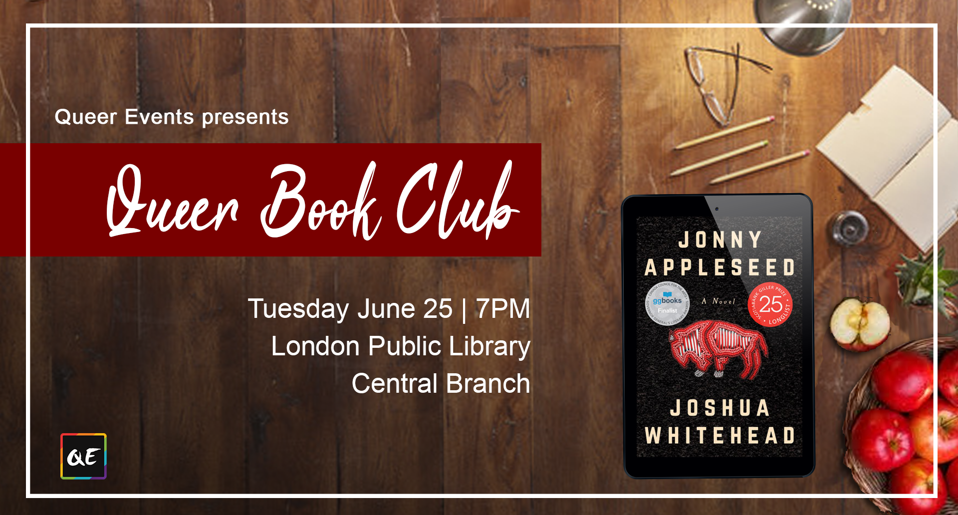 QueerEvents.ca- London Event Listing - June's Queer Book Club
