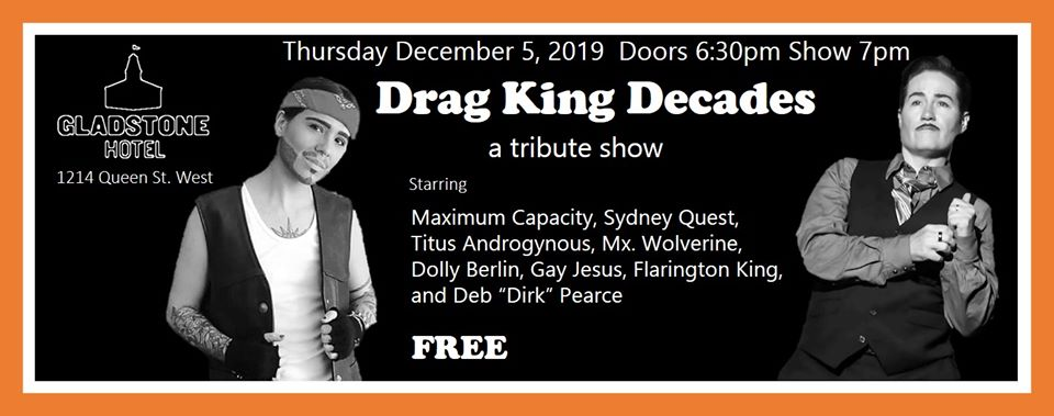 QueerEvents.ca - Toronto event listing - Drag King Decades