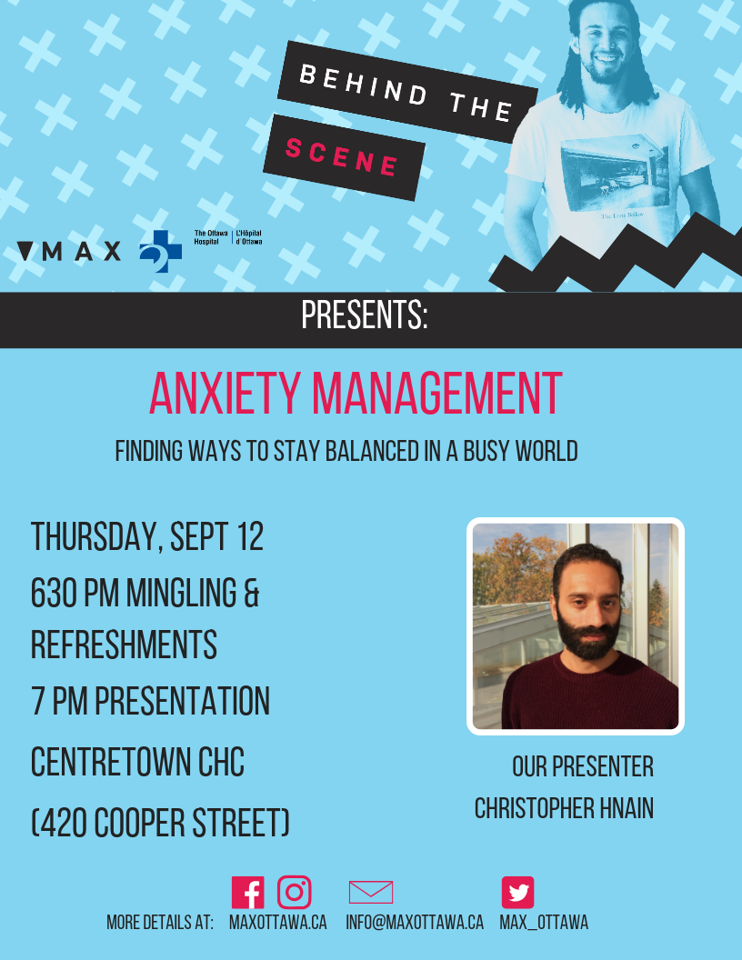 QueerEvents.ca - Ottawa event listing - Behind the Scene Presents Anxiety Management