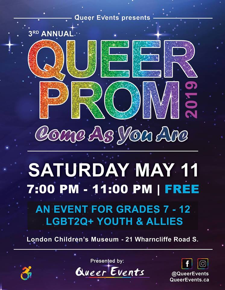 Queer Events presents Queer Prom for Youth 2019 Poster