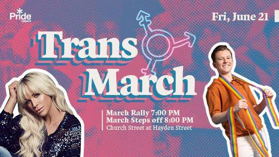 QueerEvents.ca - Toronto event listing- Trans March 2019 event banner