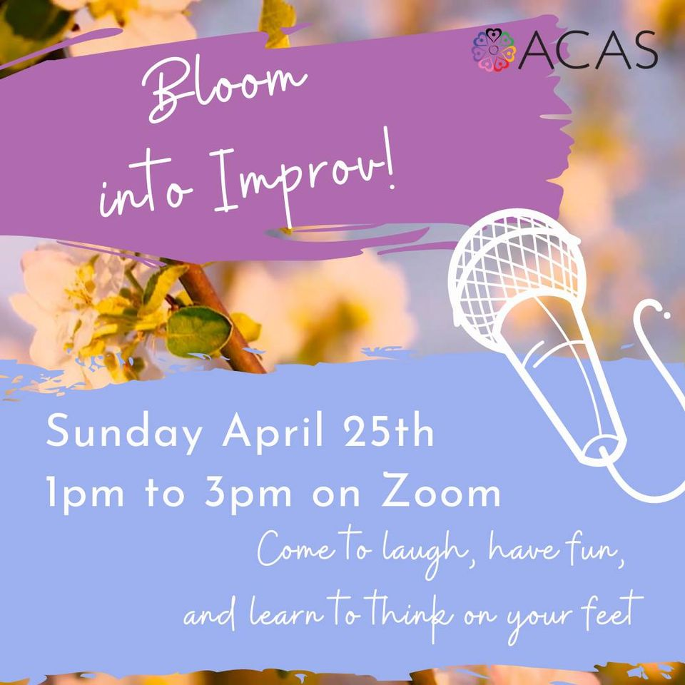 QueerEvents.ca - Event Listing - Bloom Into Improv