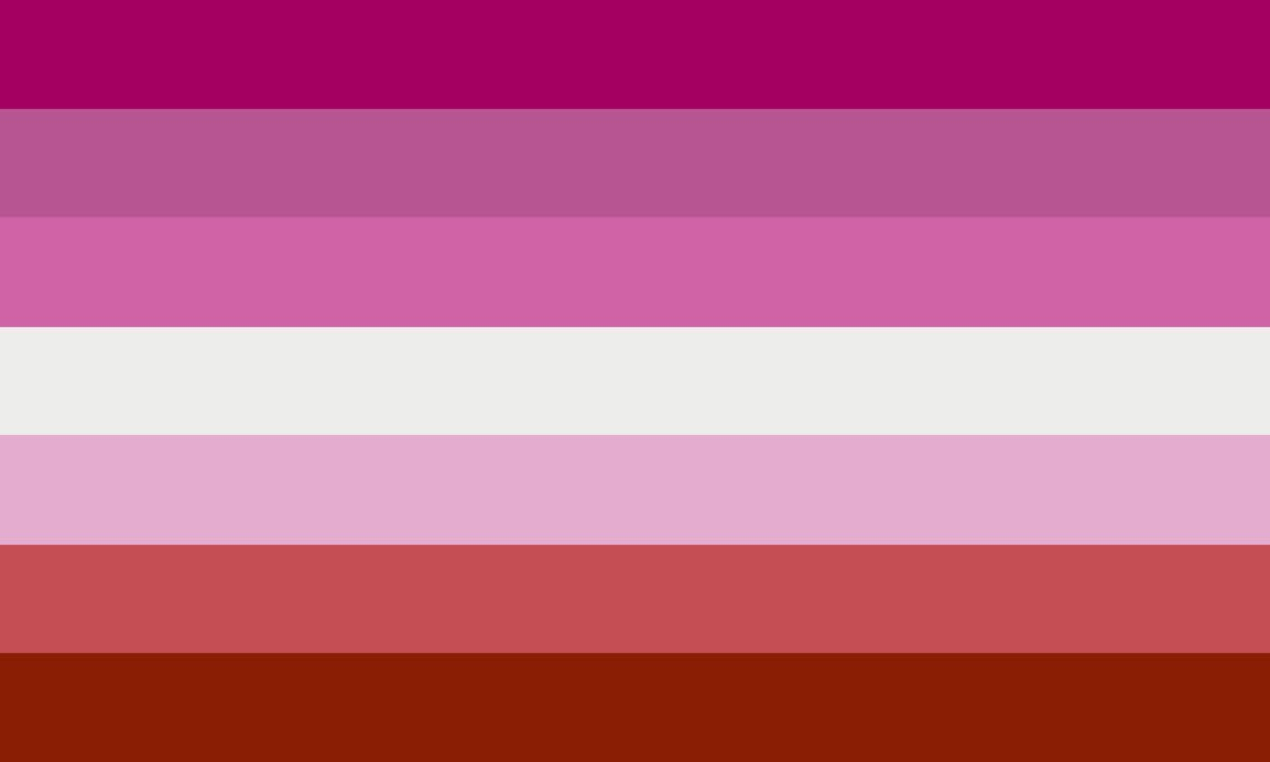 QueerEvents.ca - Queer Flags - Lesbian Flag Image