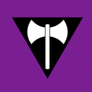 QueerEvents.ca - queer culture - lesbian community symbol labry flag design