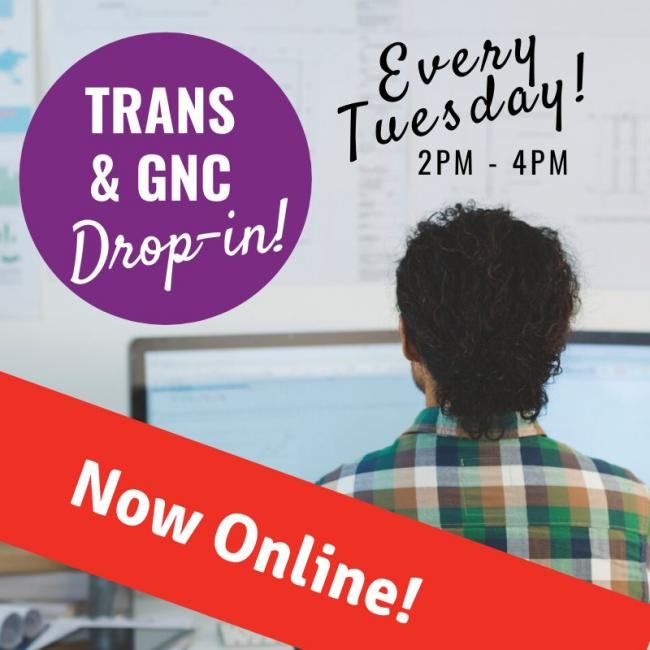 QueerEvents.ca - virtual event listing - trans and gnc virtual dropin