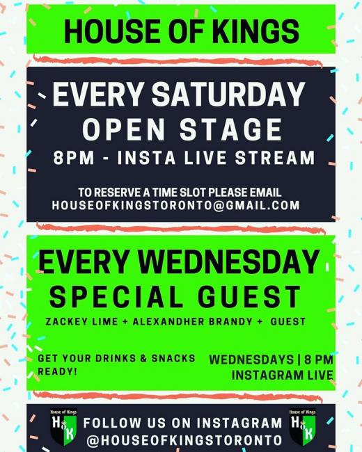 QueerEvents.ca -  house of kings weekly drag show live stream