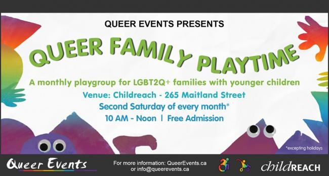 QueerEvents.ca - London event listing - Queer family playtime presented by Queer Events