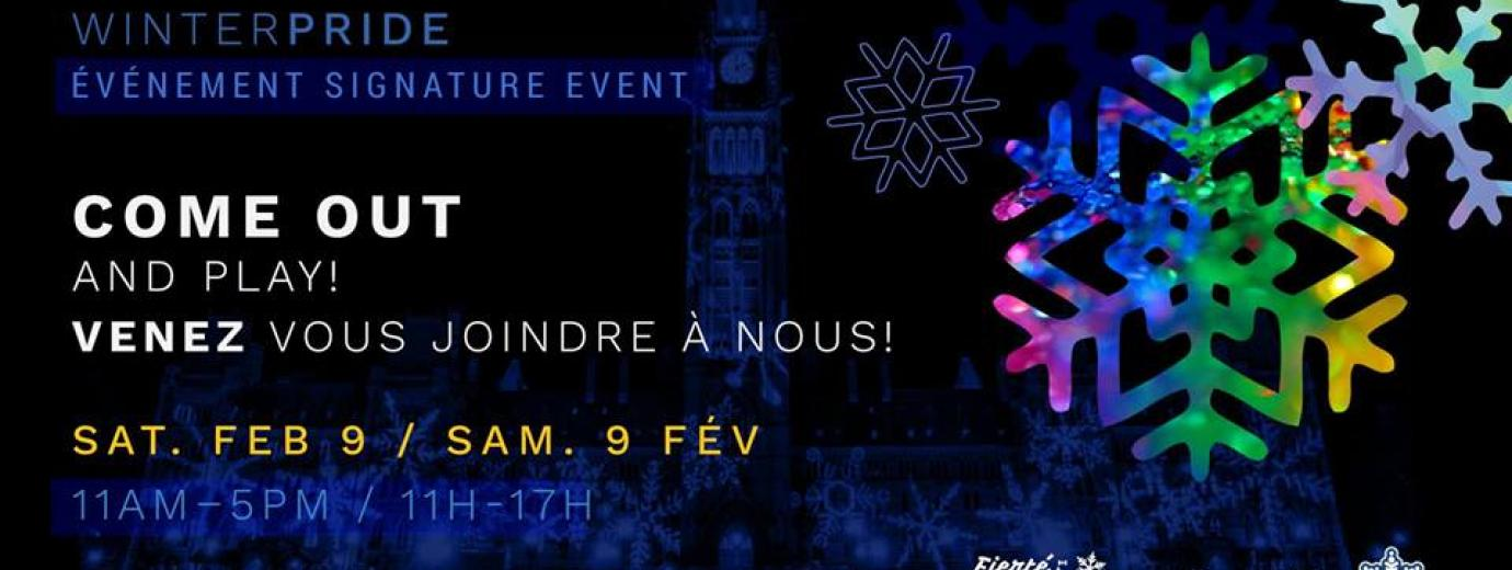 QueerEvents.ca - Ottawa winter pride event listing - Come out and play!