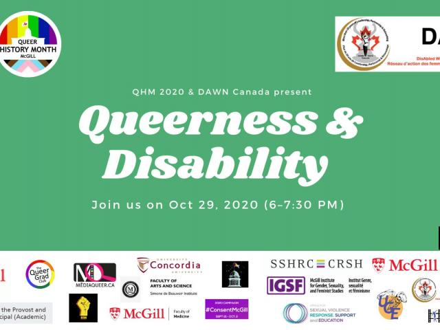 QueerEvents.ca - virtual event listing - queerness and disability panel