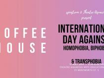 QueerEvents.ca - Hamilton event listing - IDAHOT 2019 - coffee house event banner