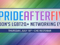 QueerEvents.ca - London event listing - Pride After Five - 2019 pride edition - even banner