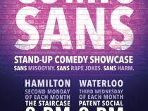 QueerEvents.ca - Waterloo Region Event Listing - Comic Sans - monthly comedy show postet